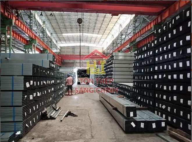 Giá thép hộp 50x100 mạ kẽm Hoa Sen