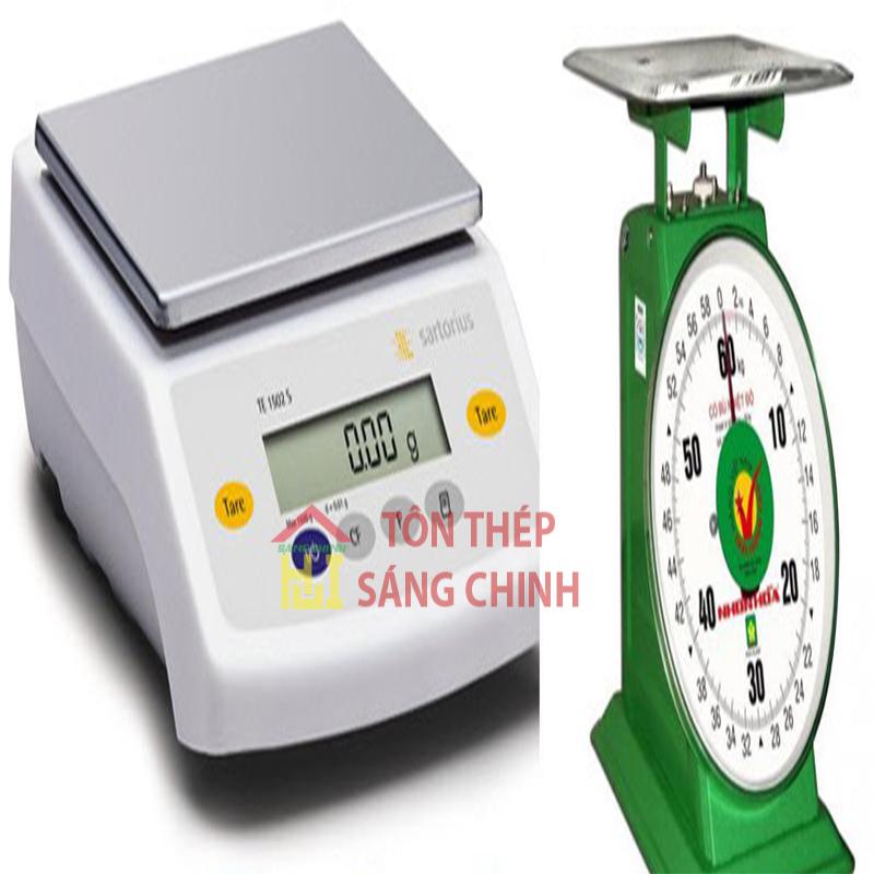 Bảng tra trọng lượng tôn
