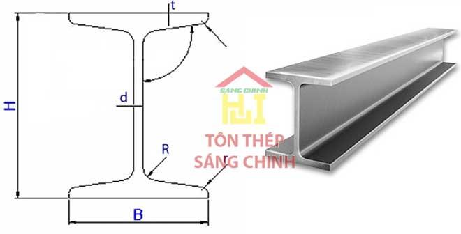 quy cách thép h, trọng lượng thép hình h, kích thước thép h, quy cách thép hình h